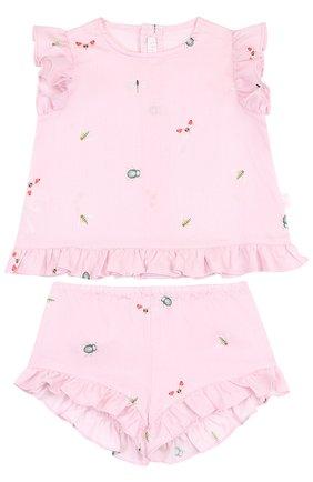 Хлопковый комплект из платья и шорт | Фото №1