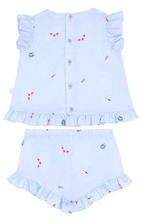 Детский хлопковый комплект из платья и шорт IL GUFO голубого цвета, арт. P18DP248C4039/12M-18M | Фото 2