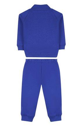 Детский хлопковый костюм из брюк и кардигана IL GUFO синего цвета, арт. P18DP253M0030/12M-18M | Фото 2