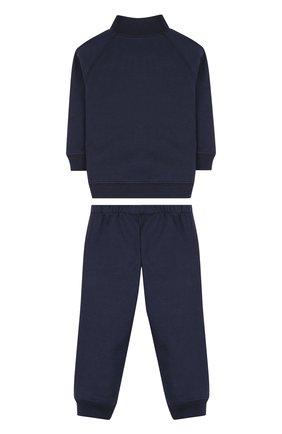 Детский хлопковый костюм из брюк и кардигана IL GUFO темно-синего цвета, арт. P18DP253M0030/12M-18M | Фото 2