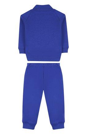 Детский хлопковый костюм из брюк и кардигана IL GUFO синего цвета, арт. P18DP253M0030/3M-9M   Фото 2