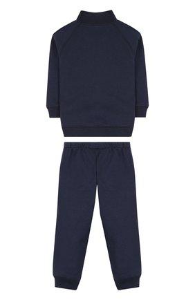 Детский хлопковый костюм из брюк и кардигана IL GUFO темно-синего цвета, арт. P18DP253M0030/3M-9M   Фото 2