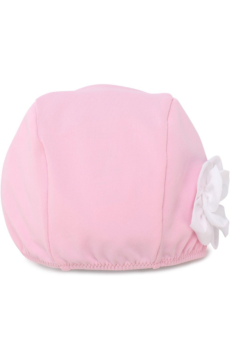 Детского шапочка для плавания с аппликацией IL GUFO розового цвета, арт. P18FF005EL100 | Фото 1