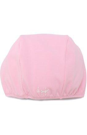 Детского шапочка для плавания с аппликацией IL GUFO розового цвета, арт. P18FF005EL100 | Фото 2