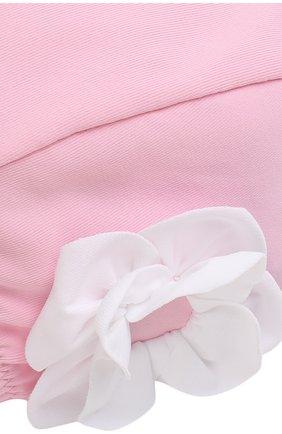 Детского шапочка для плавания с аппликацией IL GUFO розового цвета, арт. P18FF005EL100 | Фото 3