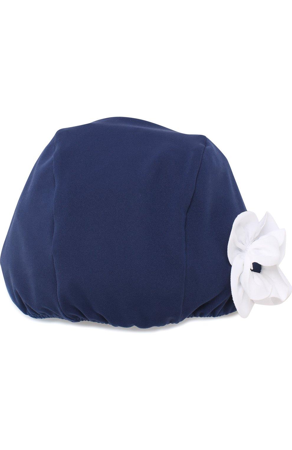 Детского шапочка для плавания с аппликацией IL GUFO синего цвета, арт. P18FF005EL100 | Фото 1