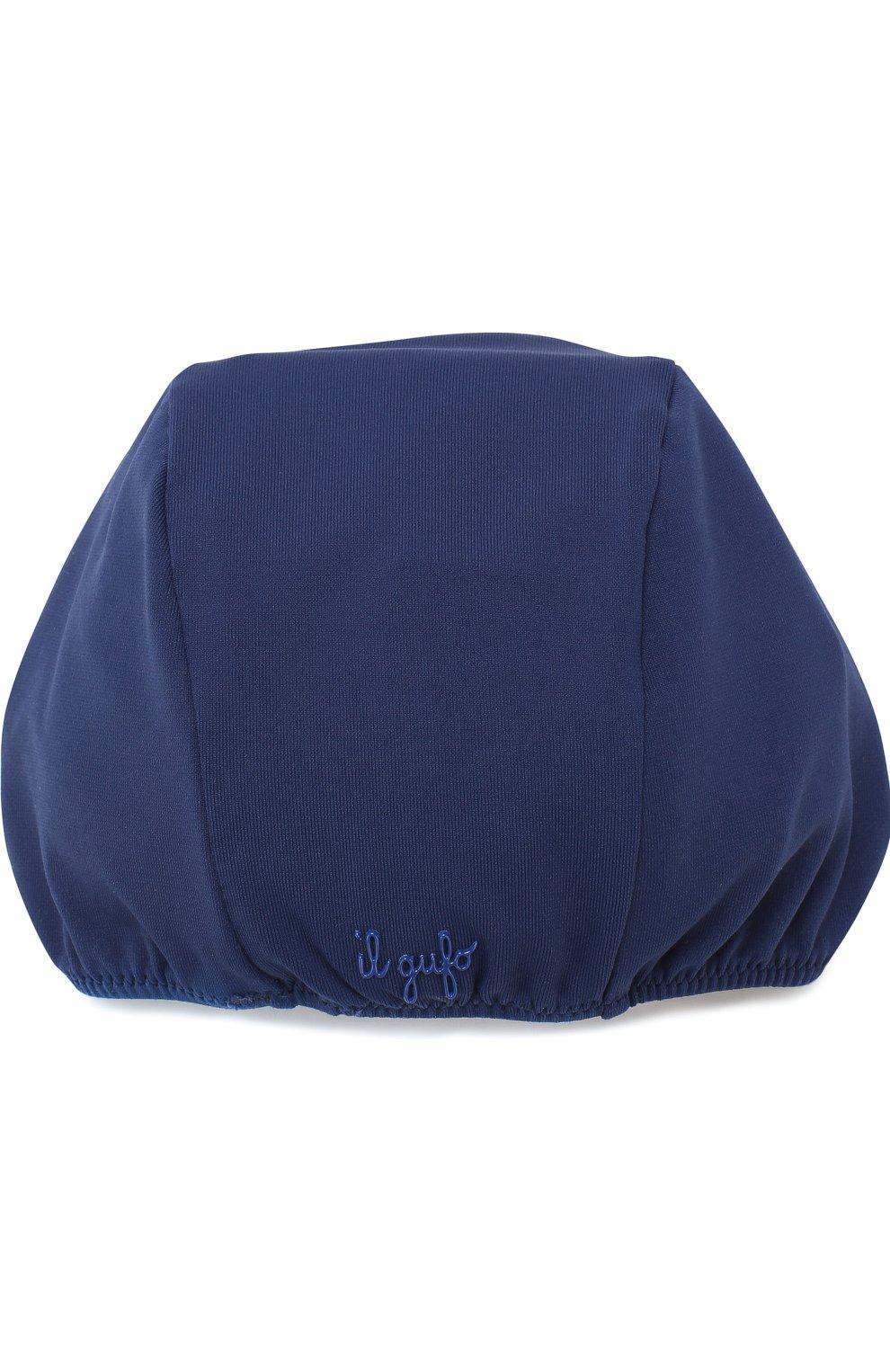 Детского шапочка для плавания с аппликацией IL GUFO синего цвета, арт. P18FF005EL100 | Фото 2