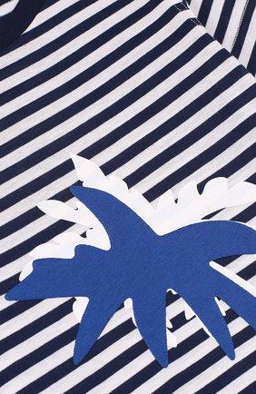 Детский хлопковый комплект из футболки и шорт IL GUFO темно-синего цвета, арт. P18DP1P2M1067/2A | Фото 3