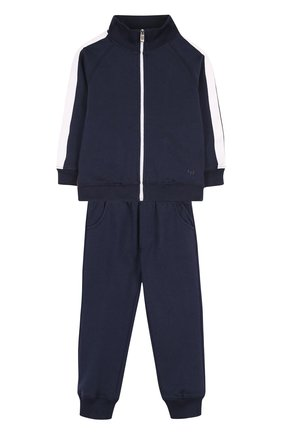 Детский хлопковый костюм из брюк и кардигана IL GUFO темно-синего цвета, арт. P18DP253M0030/2A | Фото 1