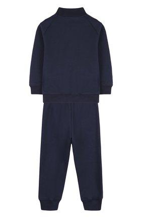 Детский хлопковый костюм из брюк и кардигана IL GUFO темно-синего цвета, арт. P18DP253M0030/2A | Фото 2