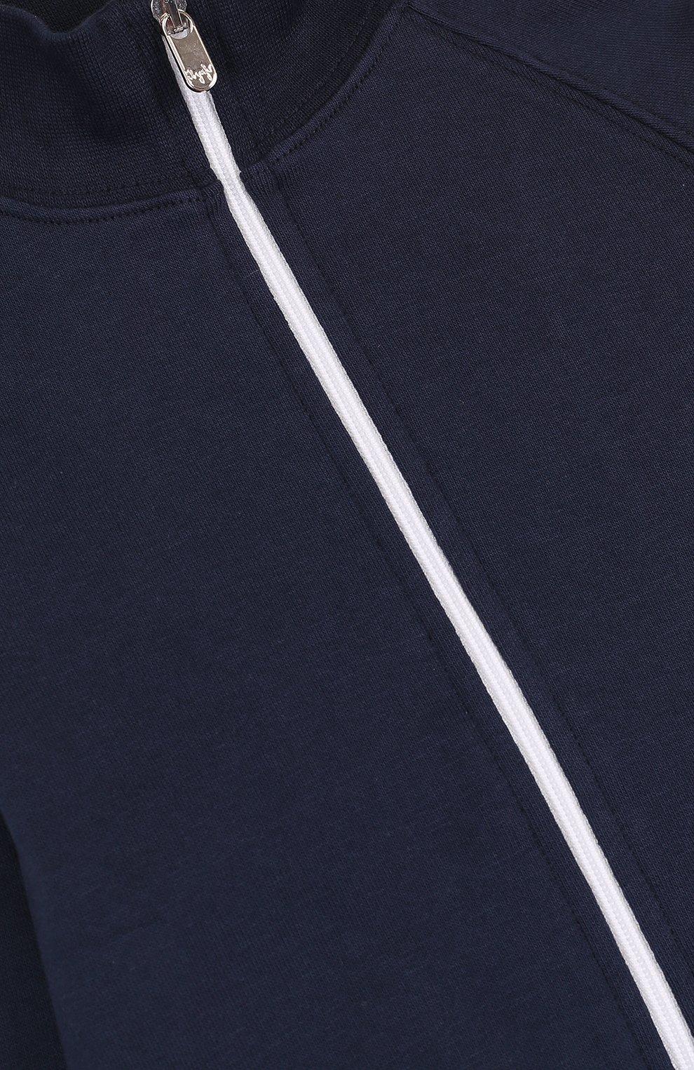 Детский хлопковый костюм из брюк и кардигана IL GUFO темно-синего цвета, арт. P18DP253M0030/2A | Фото 3