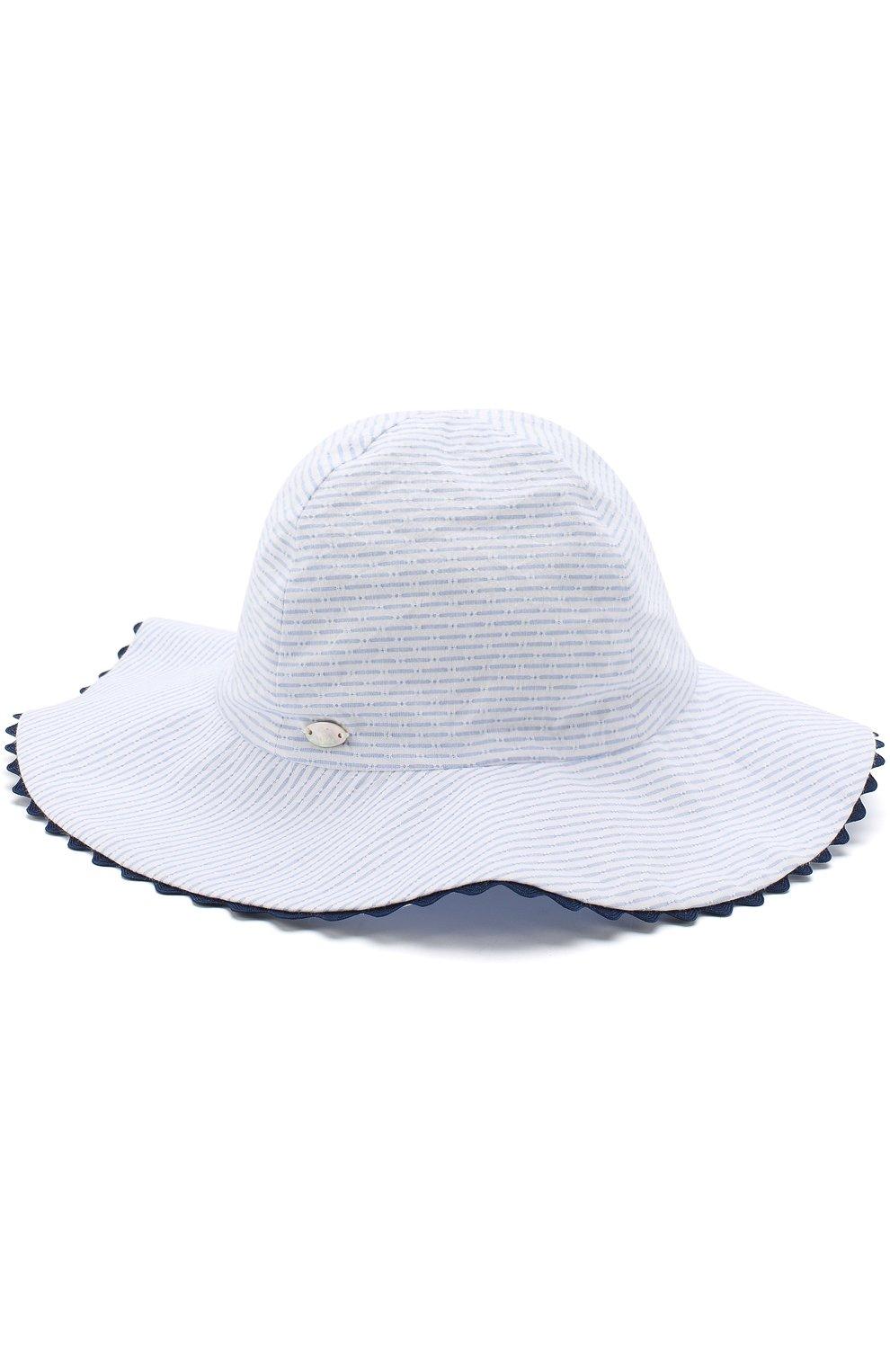 Шляпа из хлопка с широкими полями | Фото №1