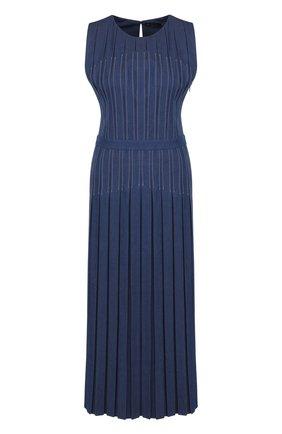 Женское приталенное джинсовое платье-миди LORO PIANA синего цвета, арт. FAI0258 | Фото 1