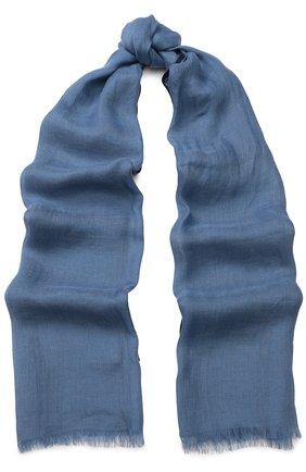 Женская шаль neilos из смеси льна и шерсти с шелком LORO PIANA голубого цвета, арт. FAI1507   Фото 1