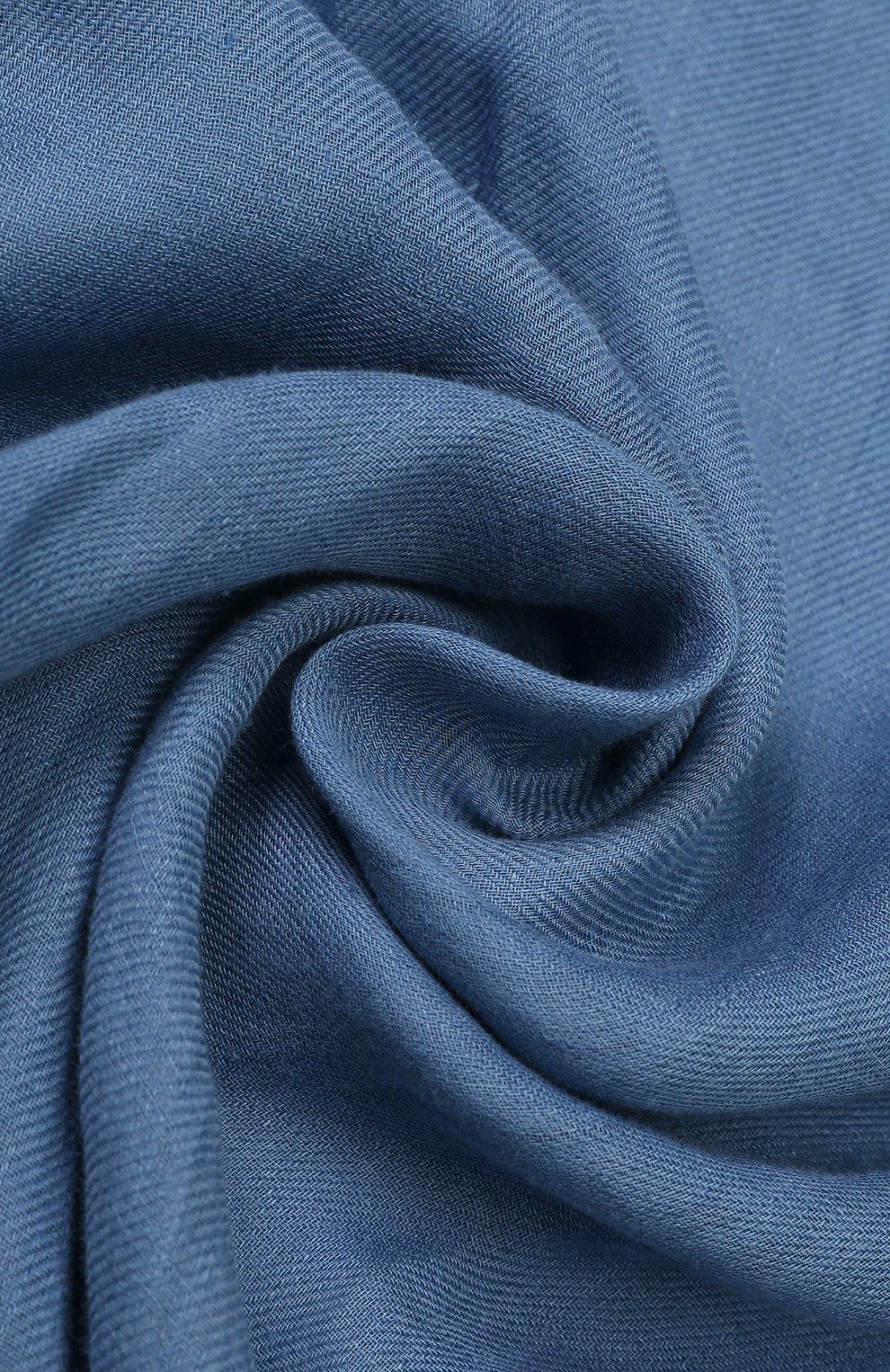 Женская шаль neilos из смеси льна и шерсти с шелком LORO PIANA голубого цвета, арт. FAI1507   Фото 2