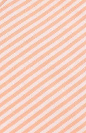 Детский хлопковая футболка в полоску ALETTA оранжевого цвета, арт. RW88618R/24M | Фото 3