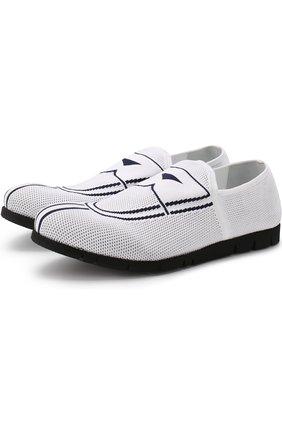 Текстильные кроссовки без шнуровки Rocco P. белые   Фото №1