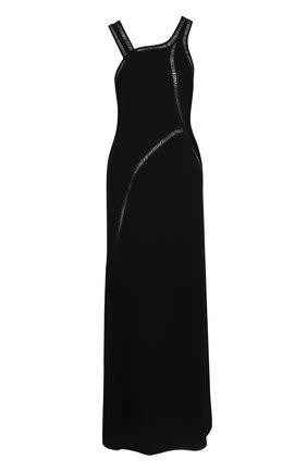 Однотонное приталенное платье из смеси хлопка и шелка | Фото №1