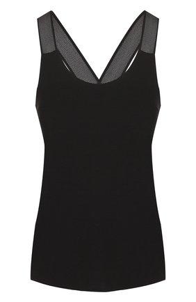 Однотонный спортивный топ Heroine Sport черного цвета | Фото №1