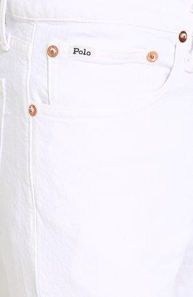 Джинсы прямого кроя Polo Ralph Lauren белые | Фото №5