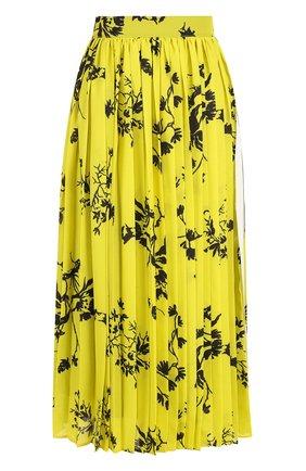 Плиссированная юбка-миди с принтом | Фото №1