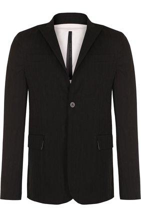 Однобортный хлопковый пиджак   Фото №1