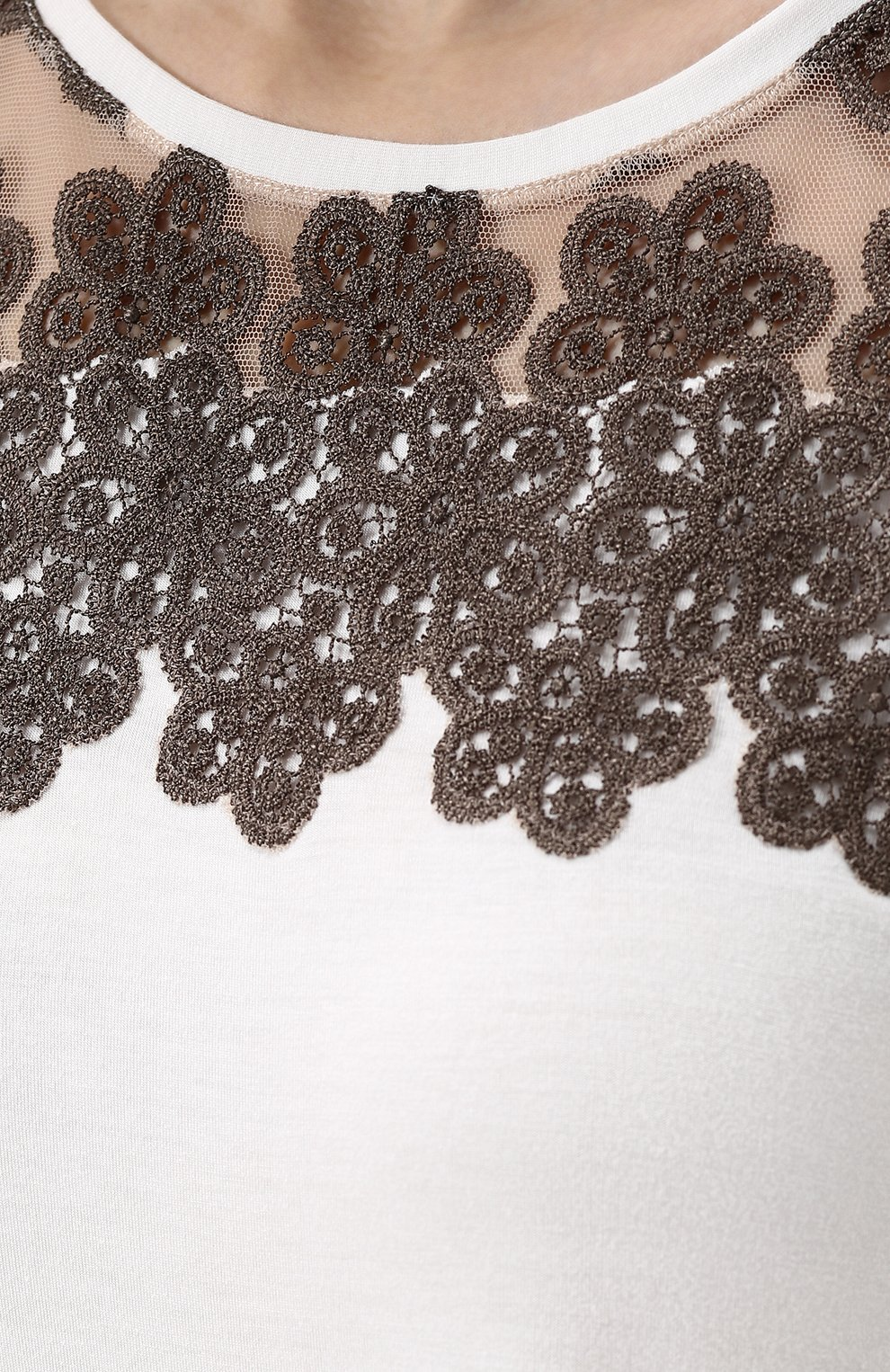 Сорочка из вискозы с кружевной отделкой   Фото №5