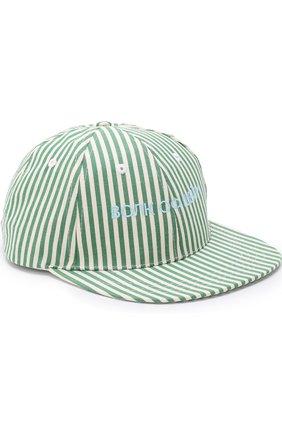 Хлопковая кепка в полоску с вышивкой | Фото №1