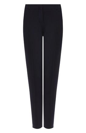 Женские шерстяные брюки BOSS темно-синего цвета, арт. 50291861 | Фото 1