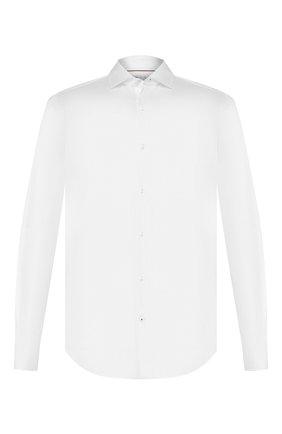 Мужская хлопковая рубашка LORO PIANA белого цвета, арт. FAG1735   Фото 1