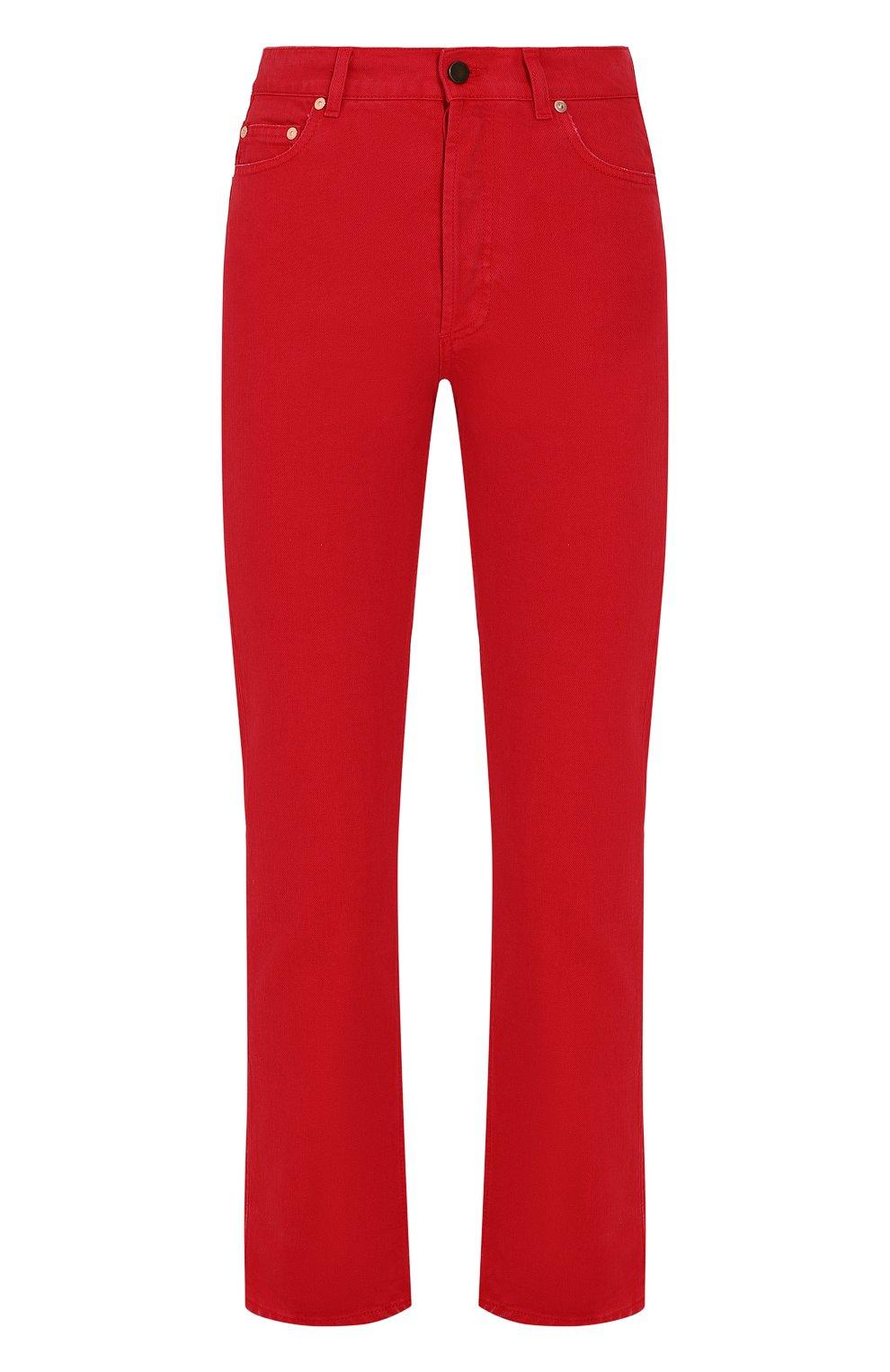 Женские джинсы VALENTINO красного цвета, арт. PB3DD07Q/4SK | Фото 1