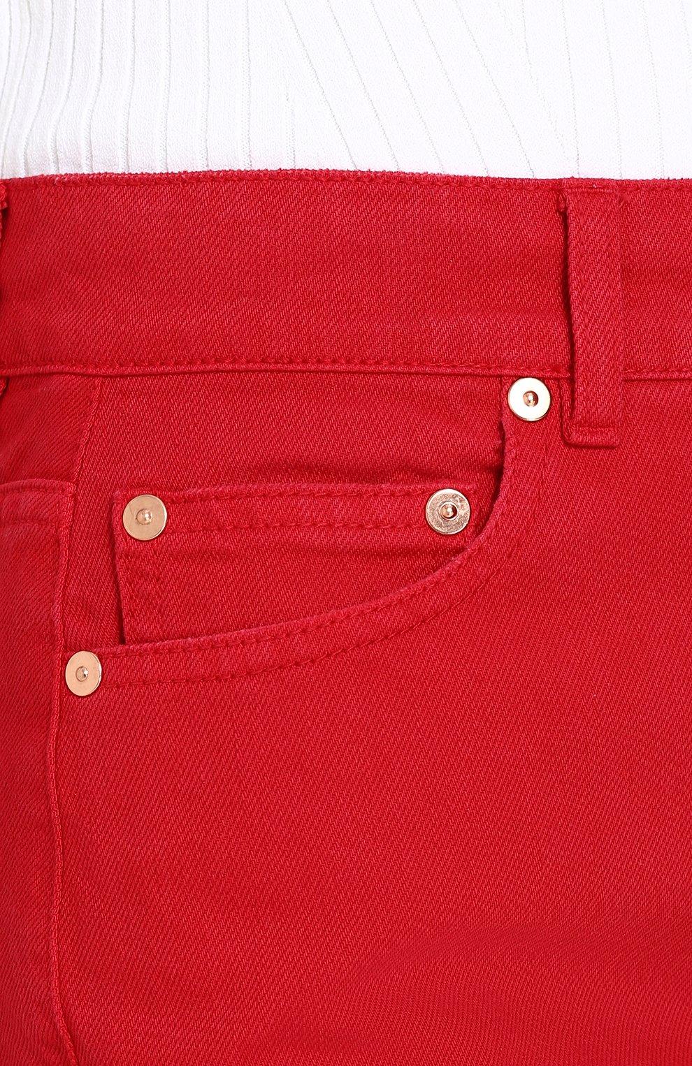 Женские джинсы VALENTINO красного цвета, арт. PB3DD07Q/4SK | Фото 5