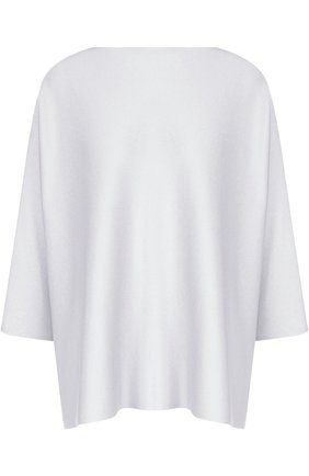Однотонный пуловер из смеси шелка с кашемиром Tse светло-серый | Фото №1