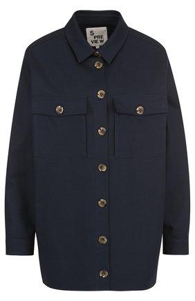 Хлопковая блуза свободного кроя с декорированной спинкой | Фото №1