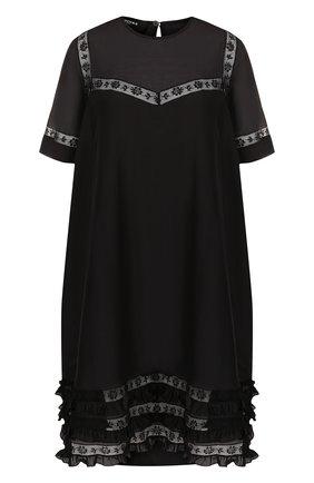 Мини-платье из смеси хлопка и шелка | Фото №1