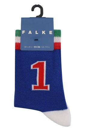 Детские носки с принтом FALKE синего цвета, арт. 12139 | Фото 1