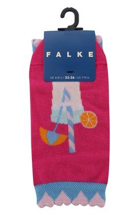 Детские носки с принтом FALKE фуксия цвета, арт. 12143 | Фото 1