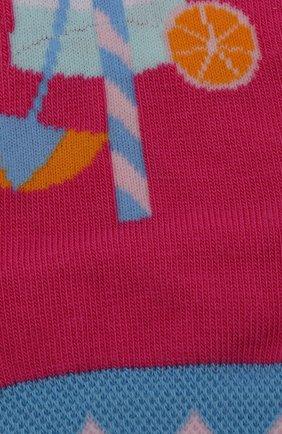 Детские носки с принтом FALKE фуксия цвета, арт. 12143 | Фото 2