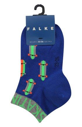 Детские носки с принтом FALKE синего цвета, арт. 12148 | Фото 1