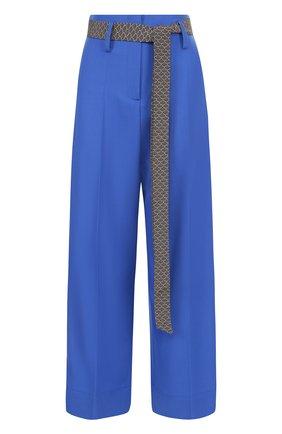 Укороченные расклешенные брюки с лампасами | Фото №1
