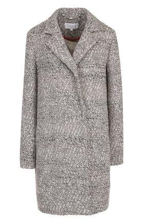 Шерстяное пальто свободного кроя с карманами Escada Sport серого цвета | Фото №1