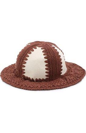 Шляпа с отделкой из меха теленка | Фото №1