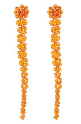 Серьги из бусин Simone Rocha оранжевые | Фото №1