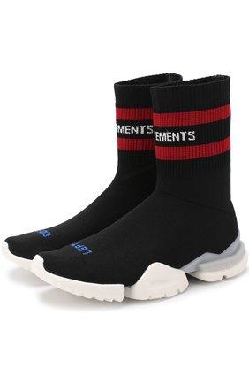 Высокие текстильные кроссовки Vetements x Reebok | Фото №1