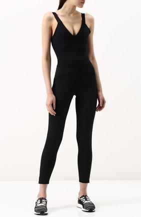 Текстильные кроссовки UltraBOOST Parley на шнуровке adidas by Stella McCartney черно-белые | Фото №1