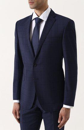 Шерстяной костюм с пиджаком на двух пуговицах Windsor темно-синий | Фото №1