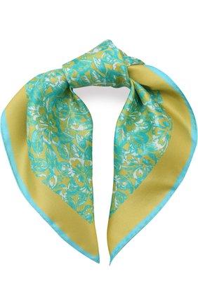 Шелковый платок с принтом   Фото №1