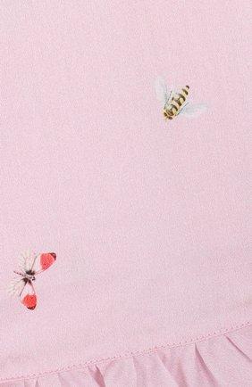 Детский хлопковый комплект из платья и шорт IL GUFO розового цвета, арт. P18DP248C4039/2A | Фото 3