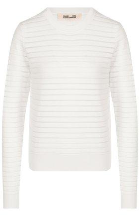 Пуловер из вискозы с круглым вырезом   Фото №1
