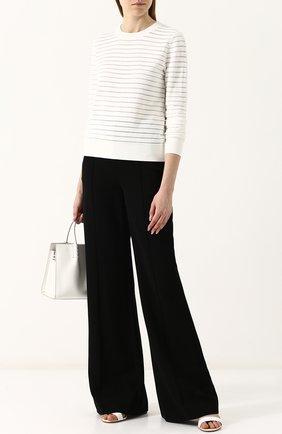 Пуловер из вискозы с круглым вырезом Diane Von Furstenberg кремовый   Фото №1